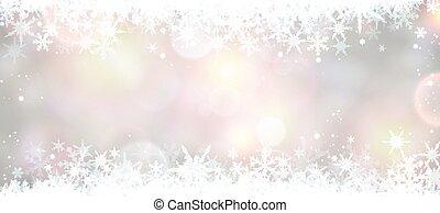 snowflakes., bannière, hiver