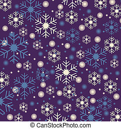 Snowflakes blue background - Snowflake shapes and snowballs ...