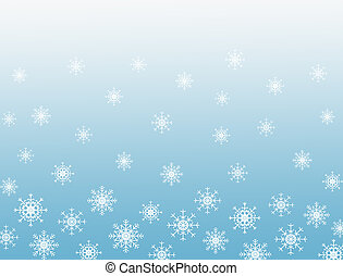Snowflakes blue background with copy space for text.