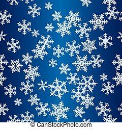 Snowflakes blue seamless pattern