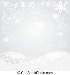Snowflakes bokeh background. Vector EPS10.