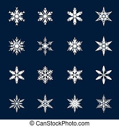 snowflakes., branca, vetorial, cobrança, ilustração