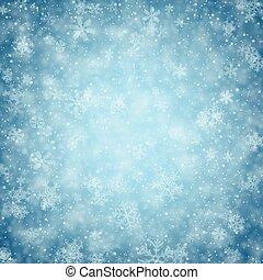 snowflakes., caído, navidad, plano de fondo