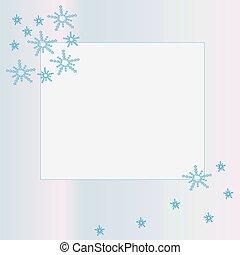 snowflakes., cadre