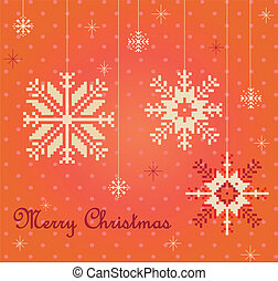 Snowflakes card vector