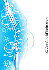 Snowflakes. Christmas background