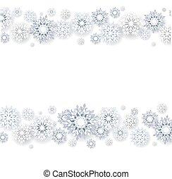 Snowflakes Christmas Border White Background