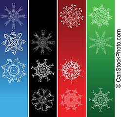 Snowflakes, christmas frames