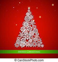 Snowflakes Christmas tree