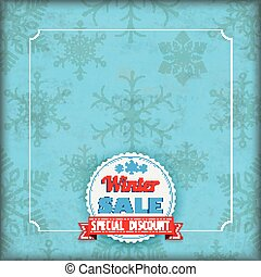 snowflakes, cobertura, inverno, vindima, venda