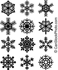 Snowflakes collection. Vector