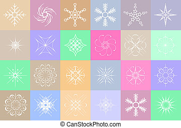 Snowflakes colorful background
