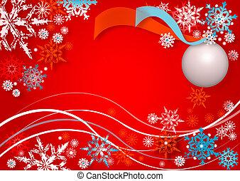 snowflakes dance
