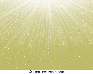 Snowflakes descending on a path of light. EPS 8