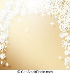 snowflakes., elegancki, boże narodzenie, tło