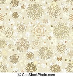 snowflakes., eps, seamless, 8, noël carte