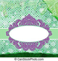snowflakes., eps, stylisé, 8, noël carte