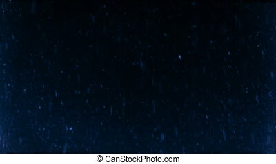 snowflakes falling at the winter night slow motion background