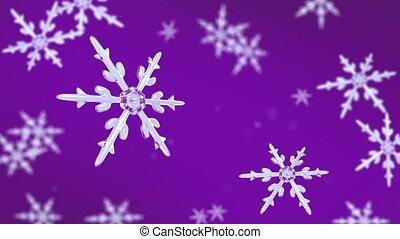 snowflakes focusing background purple hd