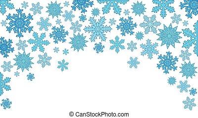 snowflakes., fond, vecteur, noël, illustration
