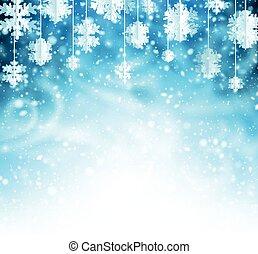 snowflakes., fondo, inverno, tromba d'aria