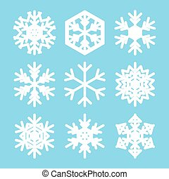 snowflakes for christmas - white