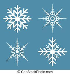 Snowflakes - Four different kinds of snowflakes