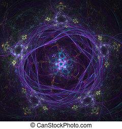 Snowflakes fractal pattern.