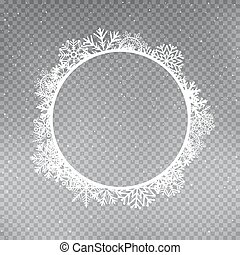 snowflakes frame round template