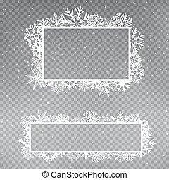 snowflakes frame template set