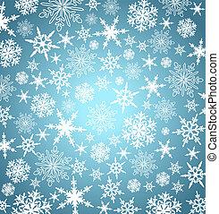 snowflakes, fundo, -