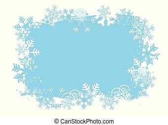 Snowflakes grunge Background.