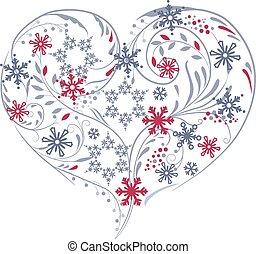 snowflakes., hart, anders, gemaakt