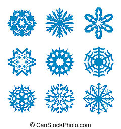 Snowflakes icon collection. Vector