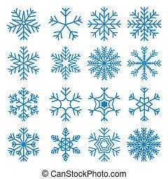 snowflakes, iconen, set