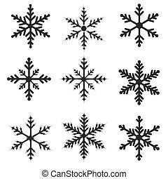 Snowflakes illustration set