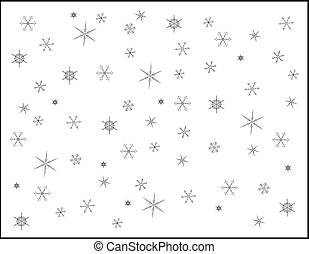 snowflakes -- illustration