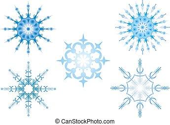 Snowflakes, Illustration, vector image on white