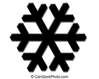 snowflakes, in, black