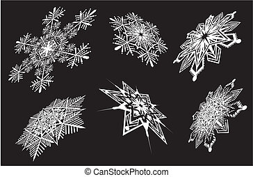 snowflakes in perspective