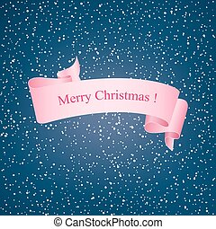Snowflakes in the Night Sky and Pink Ribbon