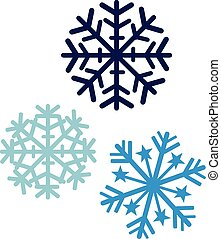 Snowflakes in three colors