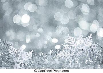Snowflakes in tinsel