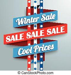 snowflakes, inverno, fita, venda