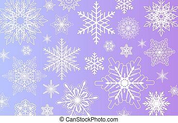 snowflakes, inverno, fundo