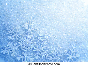 snowflakes., inverno, neve, fondo., natale