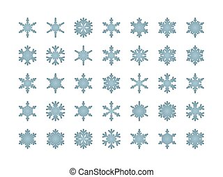 Snowflakes isolated set