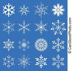 snowflakes, jogo, vetorial