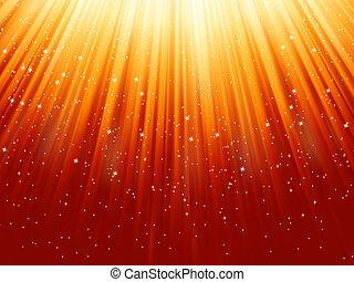 snowflakes, light., eps, descendendo, estrelas, caminho, 8
