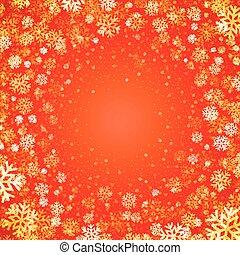 snowflakes., luce, vettore, natale, fondo